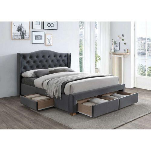 Łóżko Aspen II velvet 160 szare bluvel 14