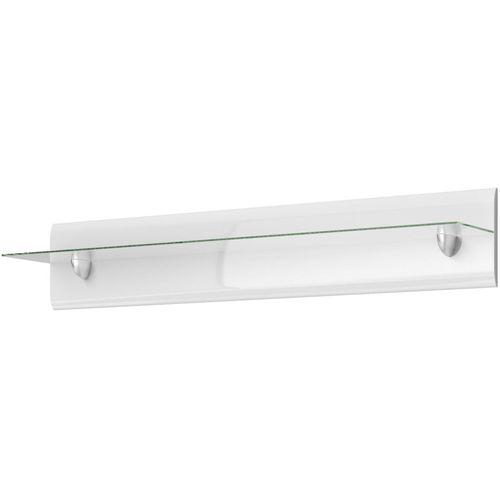 Półka 120cm Hektor biały/biały połysk