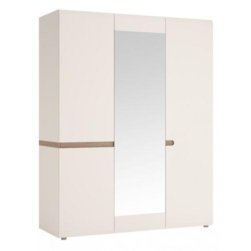 Szafa 3-drzwiowa do sypialni Biały połysk Linate typ 22 Meble Wójcik