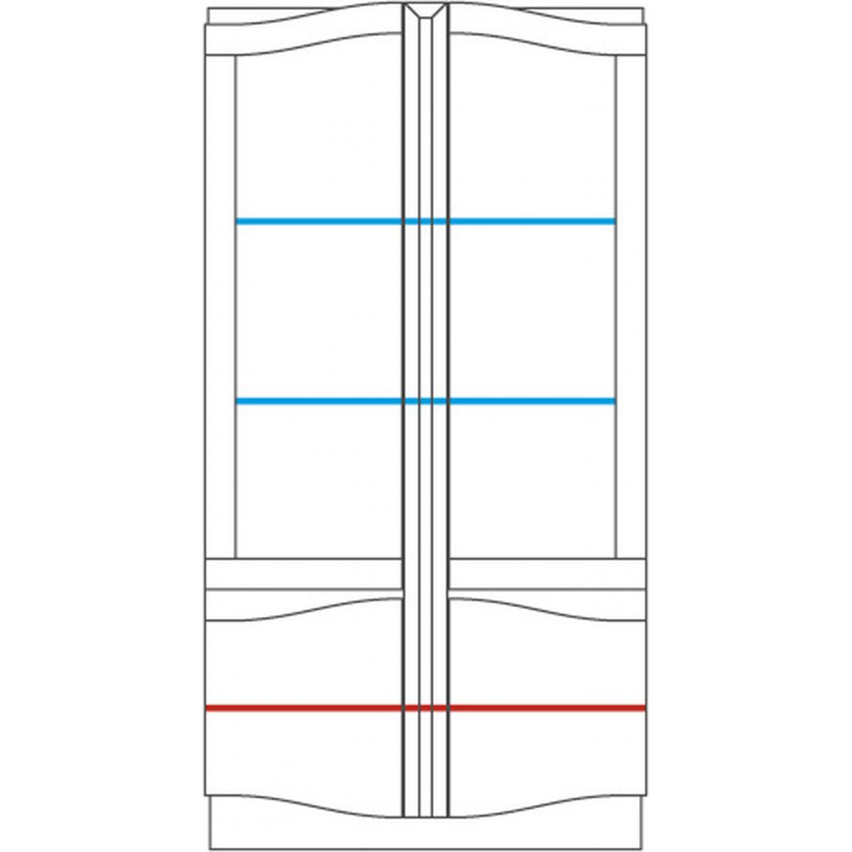 Diuna Witryna szkło podwójna 2DS2D z oświetleniem