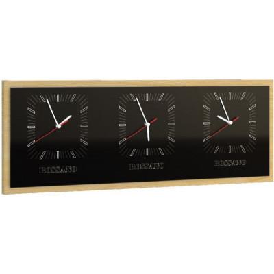 Rossano zegar potrójny poziomy