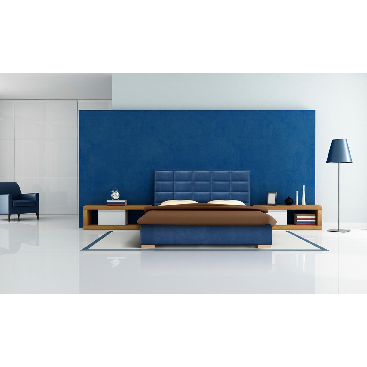 Łoże tapicerowane Porto 140 x 200 z pojemnikiem