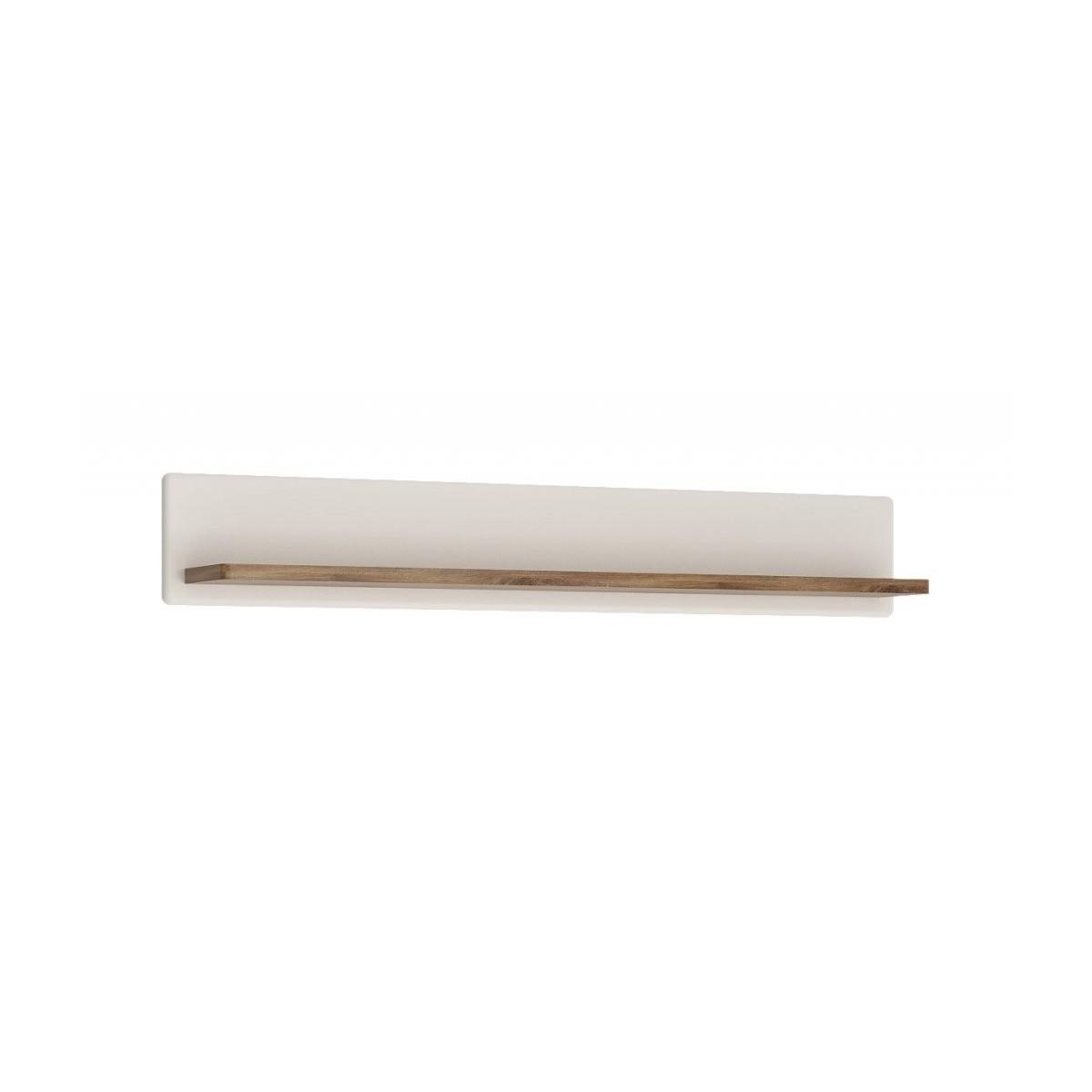 Półka do pokoju dziennego Biały alpejski, Dąb Stirling/Biały połysk, Toledo TOLD01 Meble Wójcik