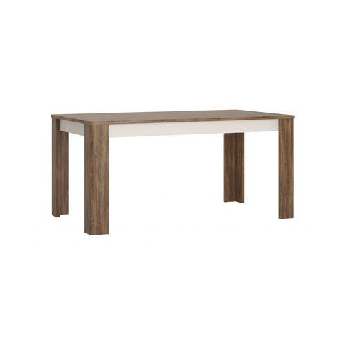 Stół Rozkładany 160-200 x 90 cm (8 osób) Biały alpejski, Dąb Stirling/Biały połysk, Toledo TOLT03 Meble Wójcik