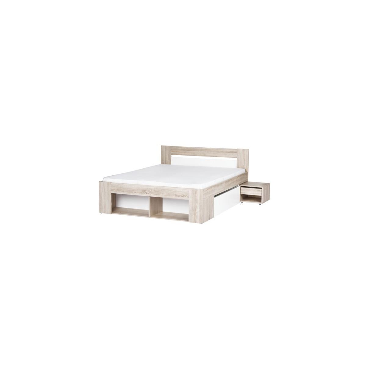 Łóżko 140 cm + 2 szafki nocne Milo 08 Szynaka Meble