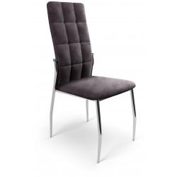 K416 krzesło popielaty velvet
