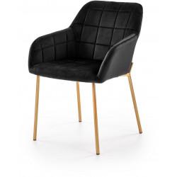 K306 krzesło czarne złote nogi