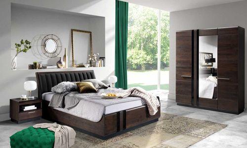 Porti Dąb czekoladowy Meble do sypialni i zestawy sypialniane