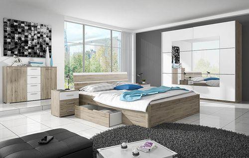 Beta (dąb san remo jasny) Meble do sypialni i zestawy sypialniane