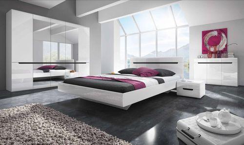 Hektor - sypialnia (biały / biały połysk) Meble do sypialni i zestawy sypialniane